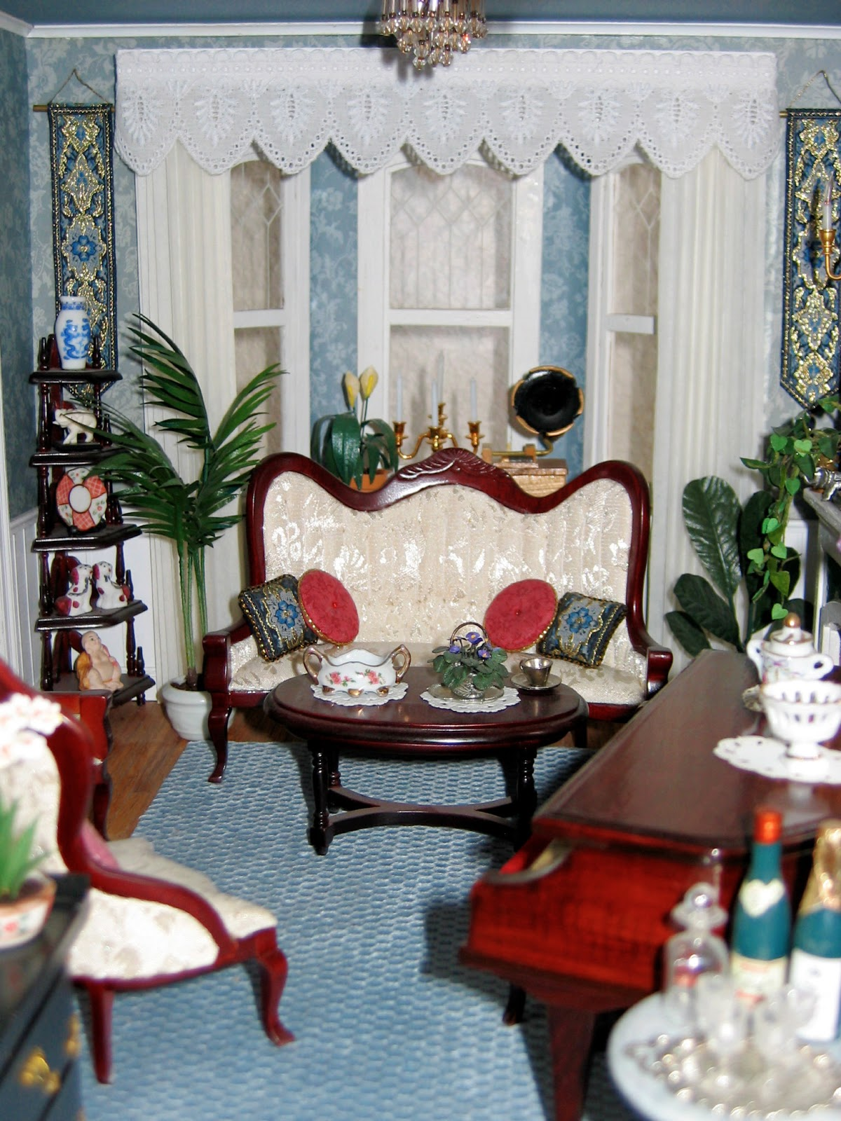 cool 12 scale dollhouse living room set | BluKatKraft: Victorian Dollhouse - Living Room 1:12 scale ...