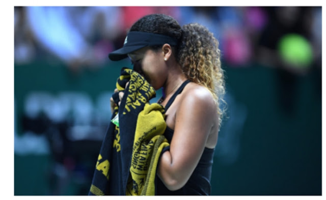 Tennis: teary Osaka retires from wta finals