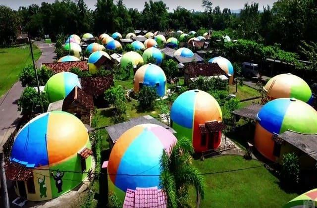 Desa wisata teletubbies aslinya bernama desa wisata rumah domes