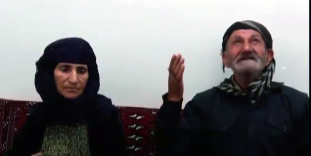 parents of Kurdish political prisoner Ramin Hussein Panahi