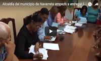 Alcaldía del municipio de Navarrete empezó a entregar la Regalía Pascual o sueldo número 13.