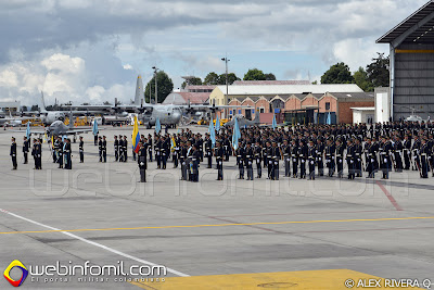 La Escuela Militar de Cadetes -EMAVI- engalanaron la ceremonia realizada en la rampa de CATAM.