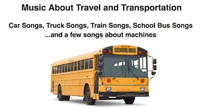 Letras de canciones del transporte en general, de autobuses, de bicicletas, de camiones, de coches, de trenes y de aviones.
