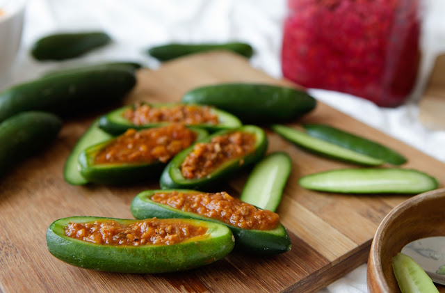 Bolognese Cucumber Boats