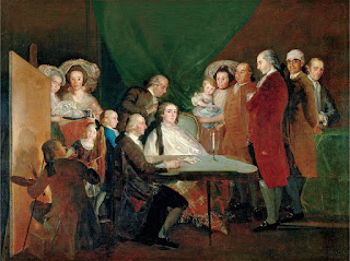 Cuadro con La familia del infante don Luis de Borbón (1784), por Francisco de Goya.