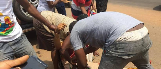 Graphic photos: Hit and run truck driver crushes woman's leg in front of her shop in Delta