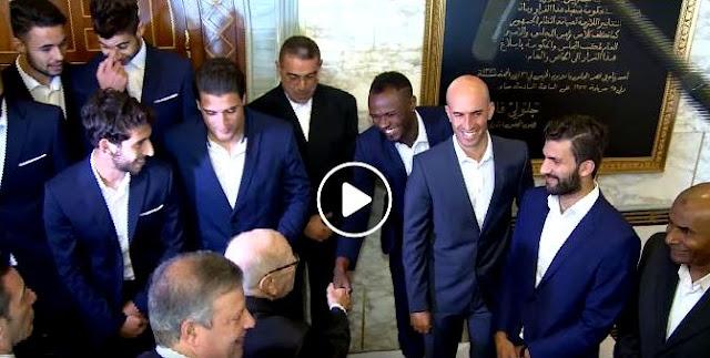 LDC/CAF : FRANCK KOM ET L'ESPÉRANCE DE TUNIS REÇUS PAR LE PRÉSIDENT TUNISIEN