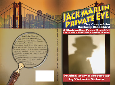 """Jack Marlin, Private Eye"" - author: Victoria Nelson, cover designer: Kura Carpenter - http://kuracarpenterdesign.blogspot.co.nz/"