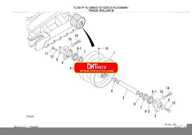 En.Oto-hui.com: Takeuchi Excavator TL150 Parts Manual