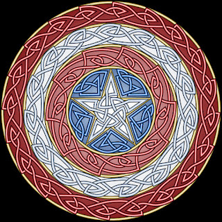 Captain America inspired knotwork