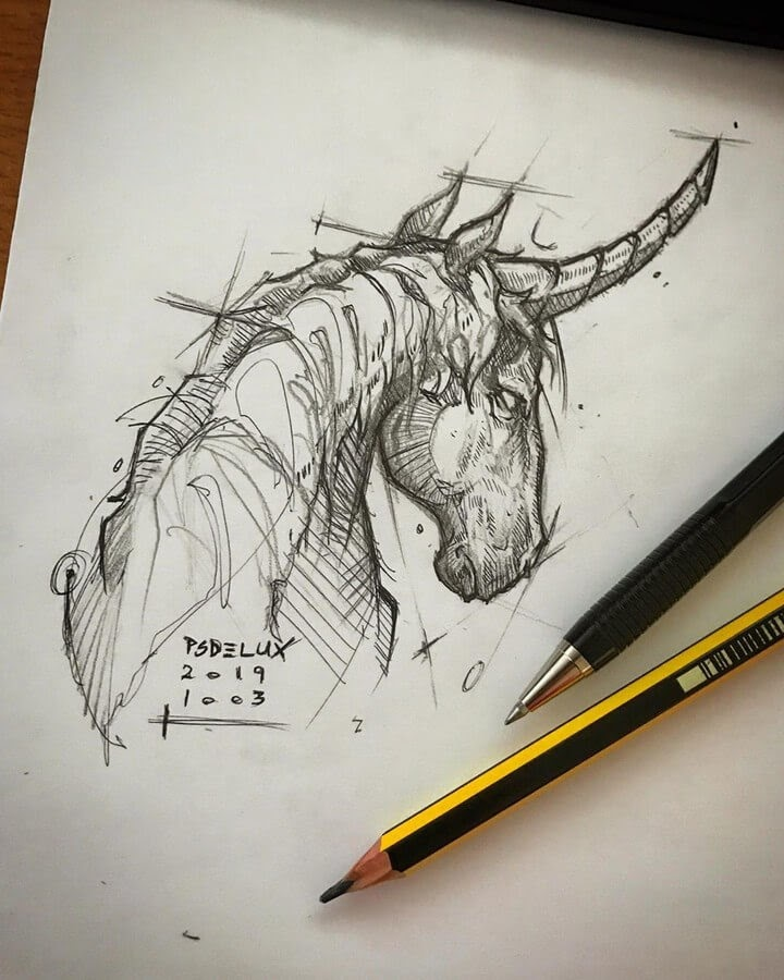 03-Unicorn-Psdelux-Animal-Drawings-www-designstack-co