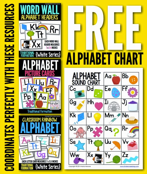 Freebielicious FREE Alphabet Sound Chart