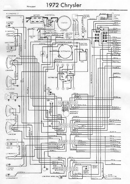 1972 Chrysler Newport Electrical Wiring Diagram