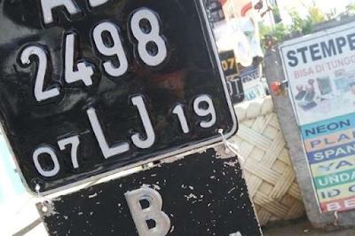 modifikasi Plat nomor kendaraan