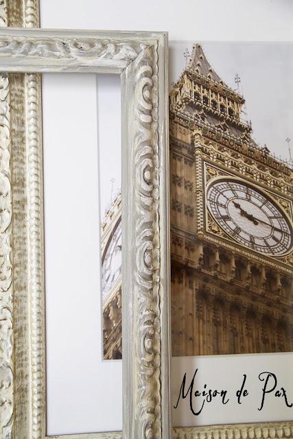 DIY antique painted picture frame tutorial - Maison de Pax