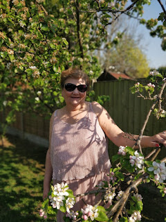 Dotty Maw Maw in the garden