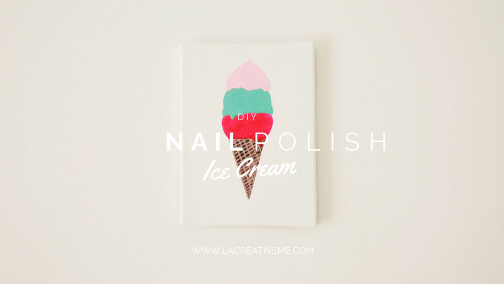 Nail Polish Ice Cream Painting