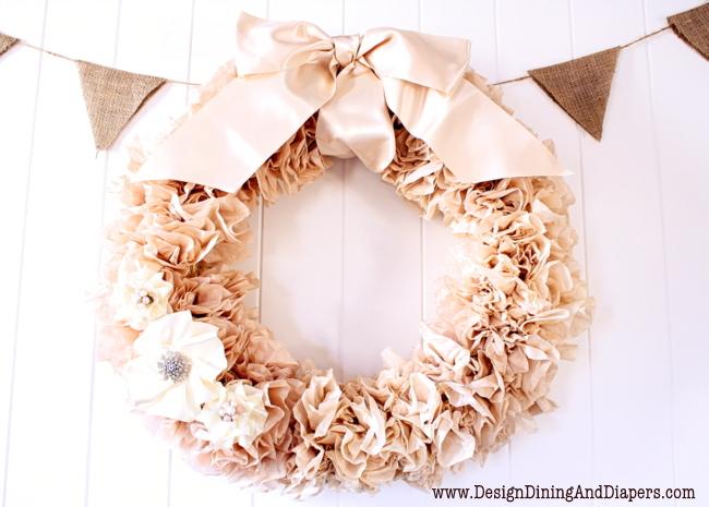 Dejavu Crafts Coffee Filter Wreath