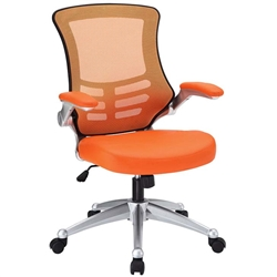 Orange Mesh Back Office Chair