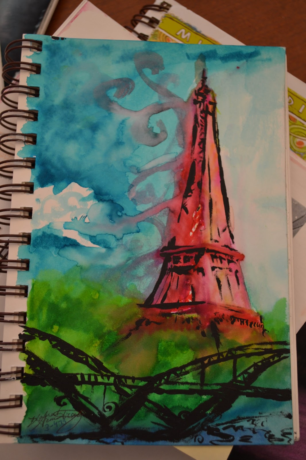Art Room Drawing: The Sunny Art Room: Sketchbook Assignments: Paint With Markers