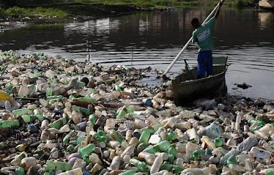 garrafas pet polui os rios,reciclagem