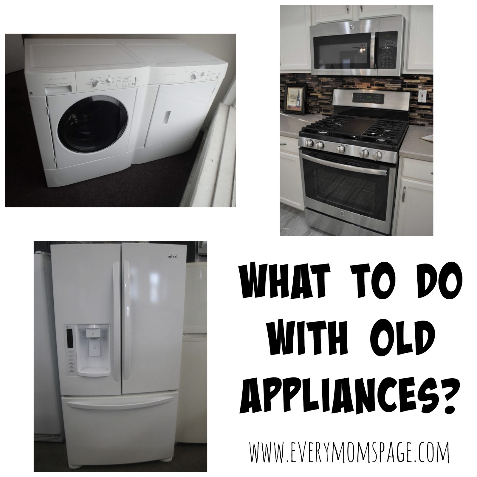 everymom 39 spage what to do with old appliances. Black Bedroom Furniture Sets. Home Design Ideas
