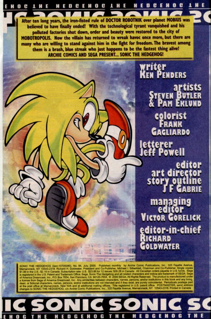 Read online Sonic The Hedgehog comic -  Issue #84 - 2