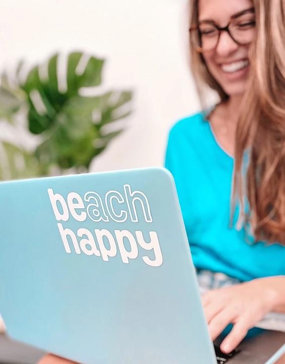Beach Happy Sticker