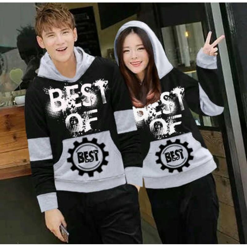 Jual Online Jumper Best Of Black Couple Murah Jakarta Bahan Babytery Terbaru