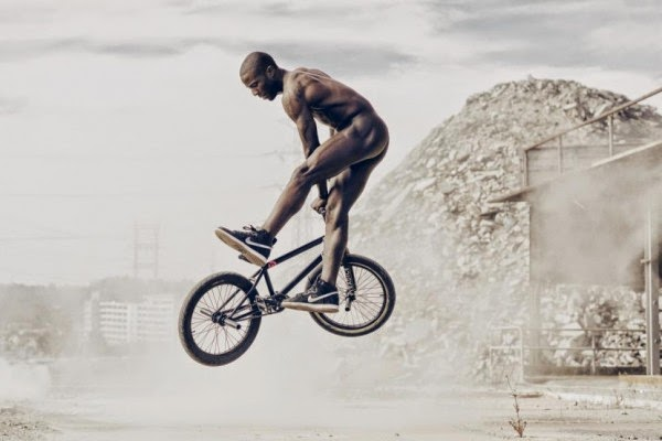 Nigel Sylvester shows us BMX tricks
