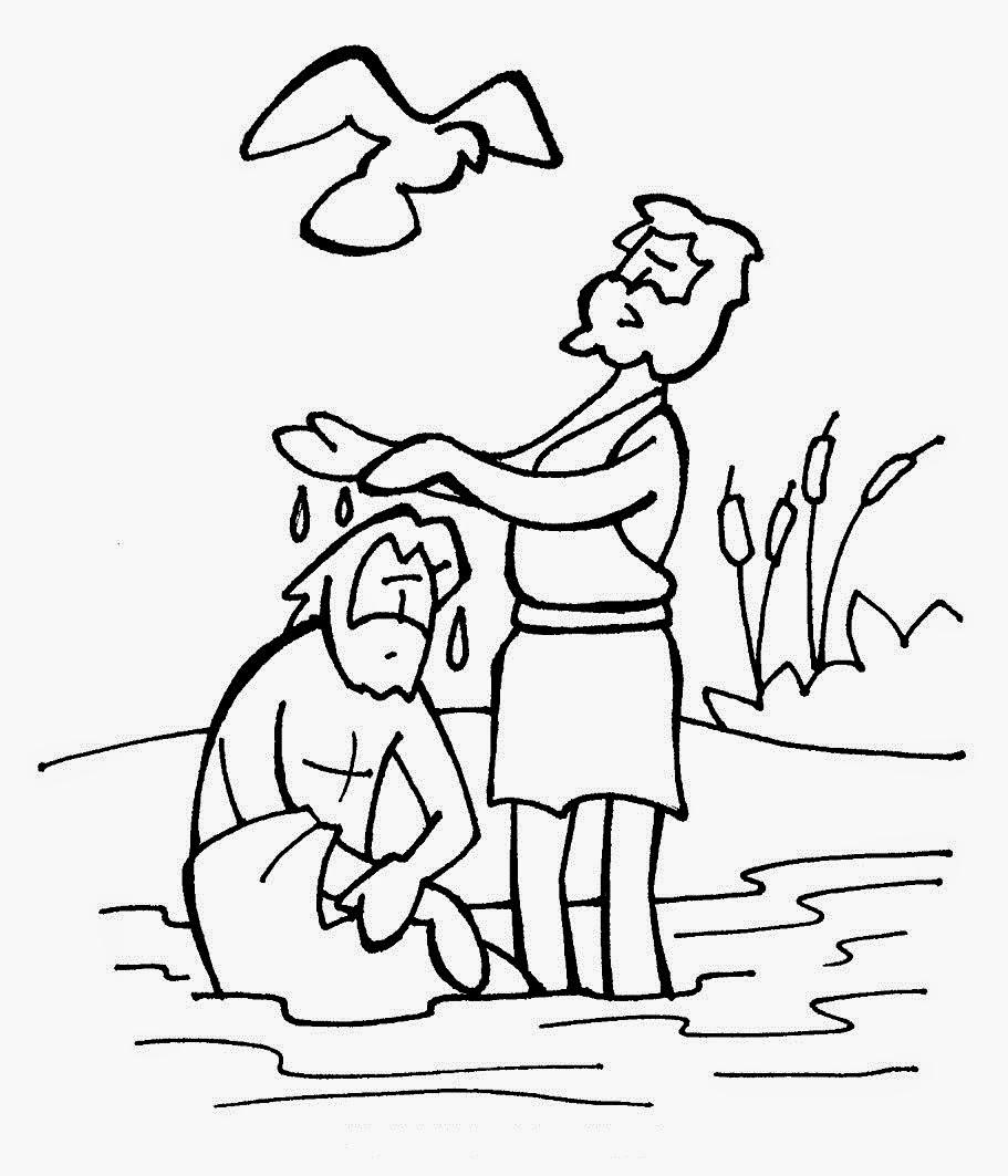 Desenhos Do Batismo De Jesus Para Colorir
