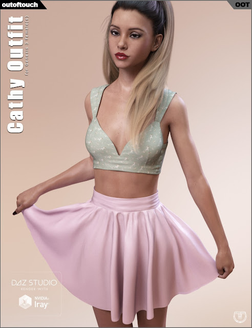 DAZ 3D - Cathy Outfit for Genesis 3 Female