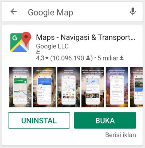 Update Aplikasi Maps