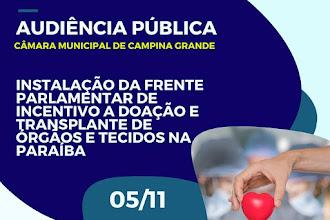 Câmara Municipal vai discutir política de doação de órgãos na próxima terça-feira
