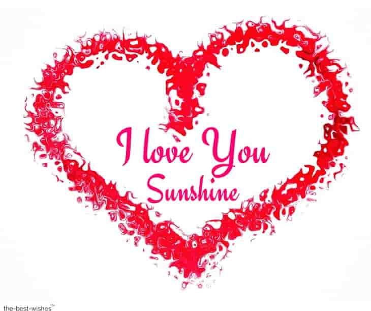 romantic i love you sunshine picture