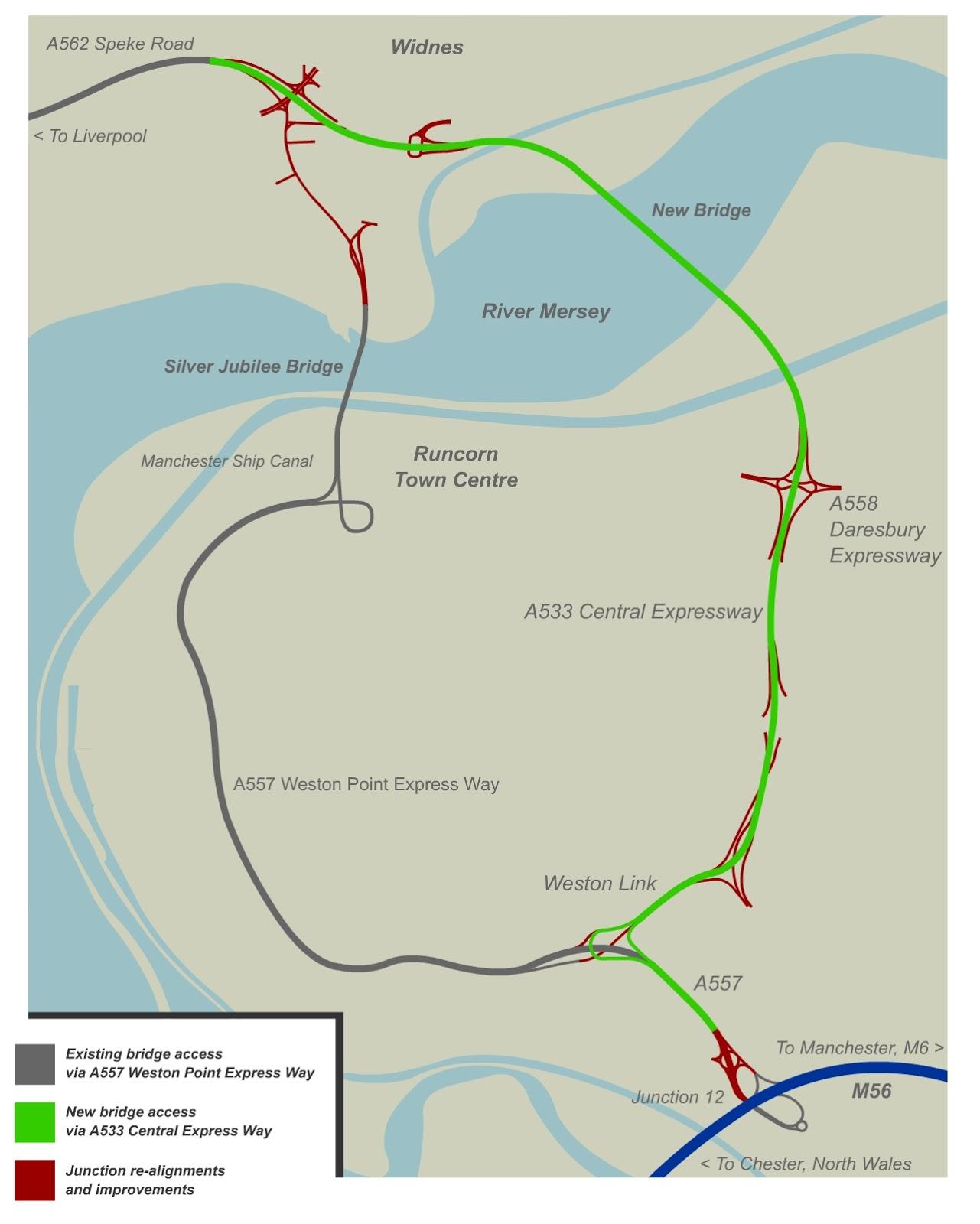 Mersey Gateway Map Engineering Focus Blog: Mersey Gateway   Making connections