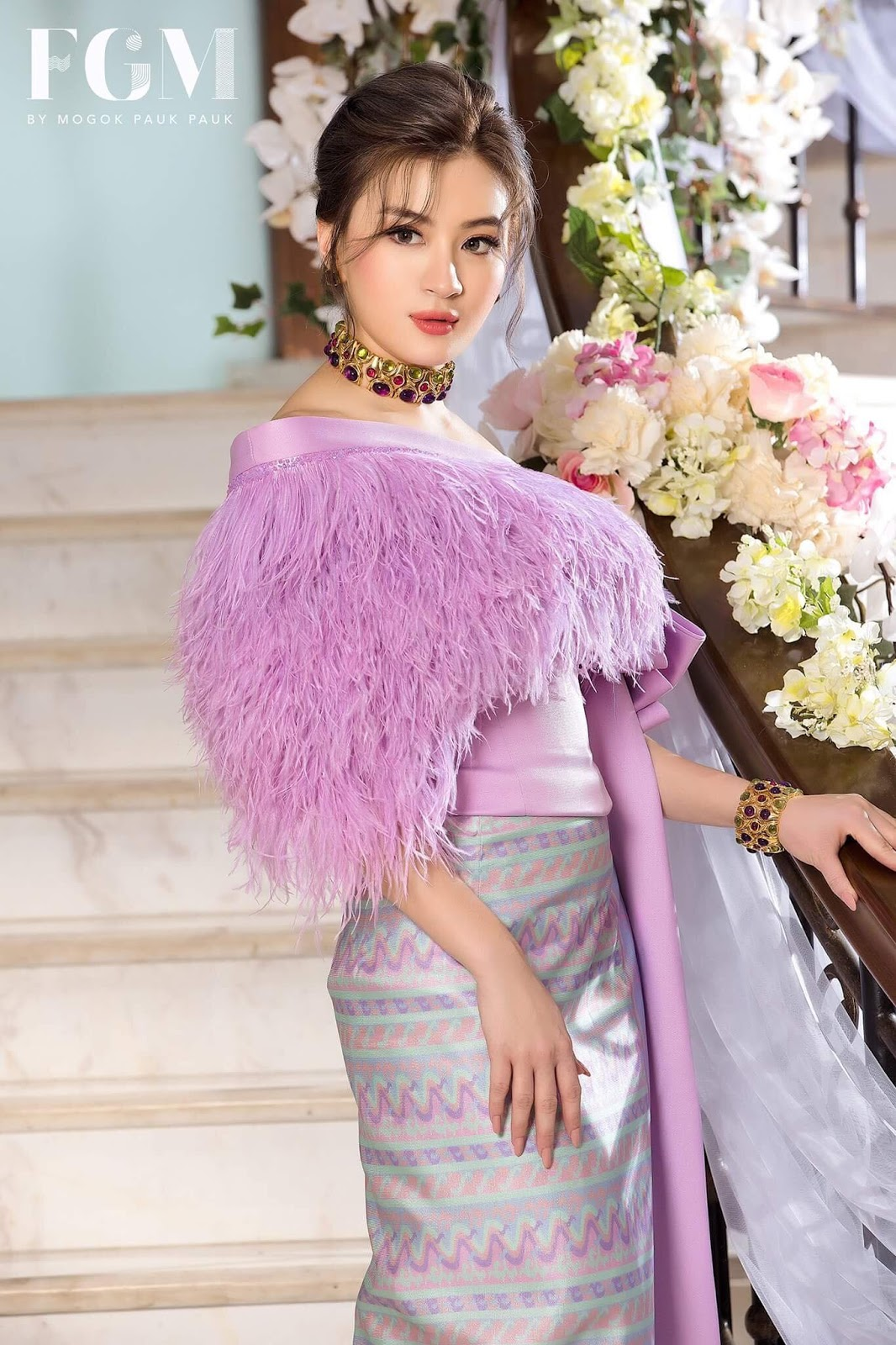 Pretty Wut Mhone Shwe Yi In Myanmar Outfit Style