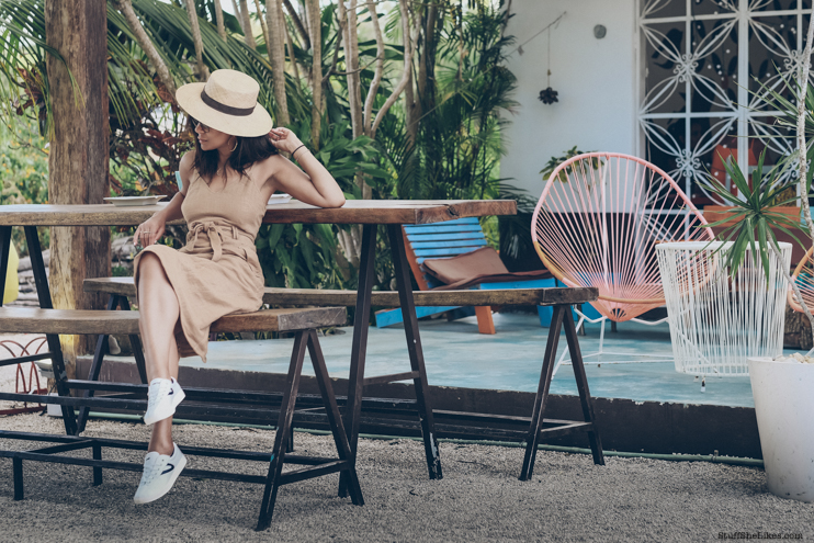 Vacation, Tulum, mexico vacation, janessa Leone hat, moon river dress, tretorn shoes, Fashion Blogger, top fashion blogger, topten fashion bloggers, LA fashion bloggers,