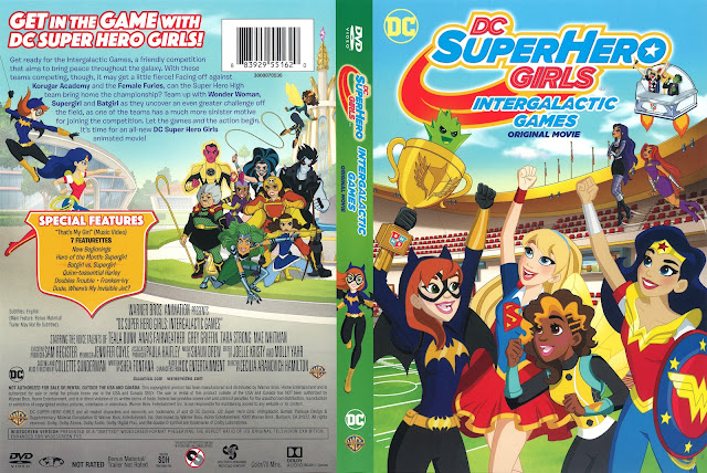 DC SuperHero Girls Intergalactic Games DVD Cover