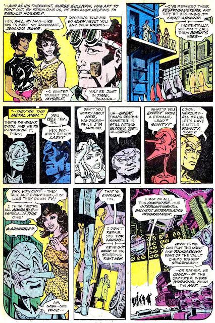 Metal Men v1 #4 dc 1970s bronze age comic book page art by Walt Simonson