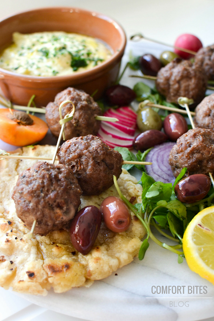 AIP paleo lamb Greek Kofta Mezze