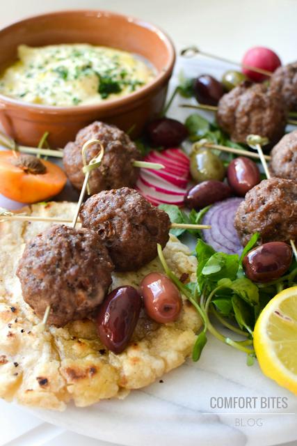 AIP paleo lamb Greek Kofta Mezze