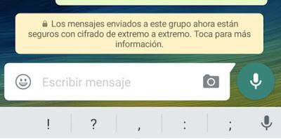 La encriptación de las conversaciones en WhatsApp