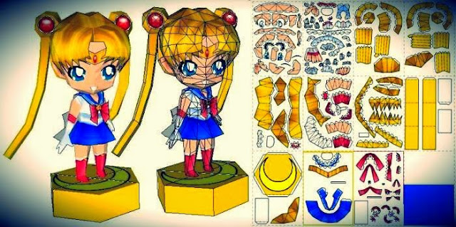 papermau sailor moon paper doll in chibi style version