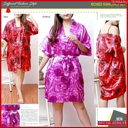 SPC150P75 Piyama Roses Set Kimono Baju Tidur Wanita | BMGShop