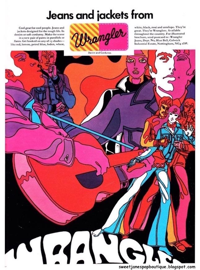 The Sweet Jane Blog:  1970s illustrated fashion print advert