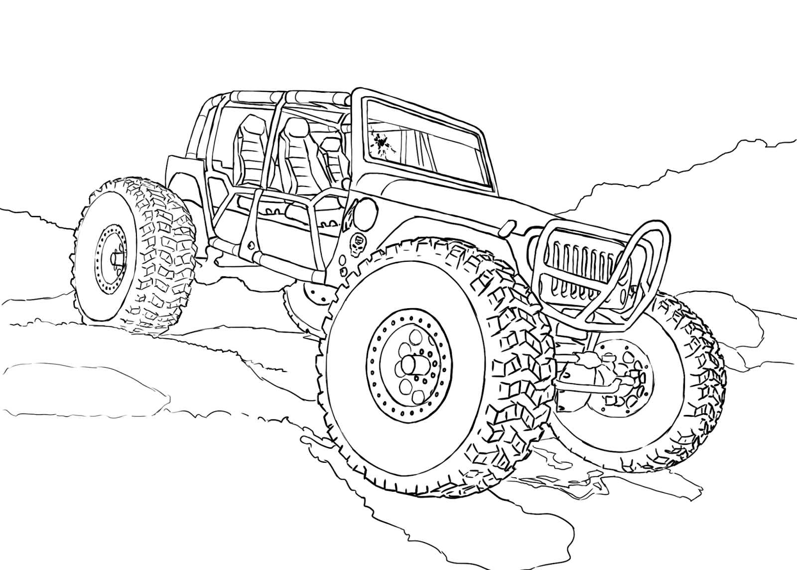 4x4 off road coloring pages   Jeep coloring pages to download and print for free