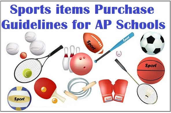 Sports items,Purchase Guidelines,AP Schools