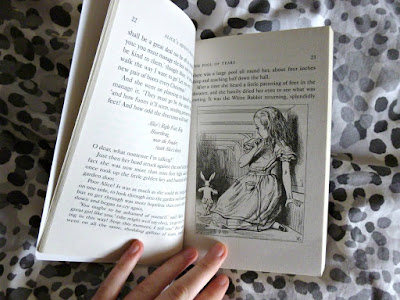 Inside pages of theatre version of Alice's Adventures in Wonderland