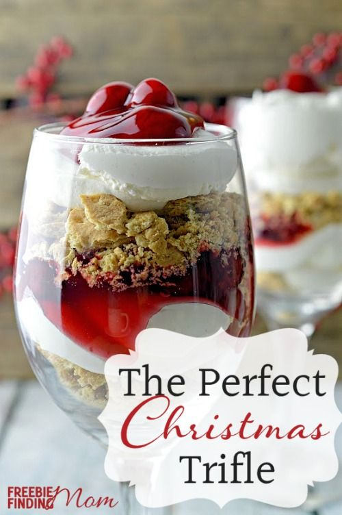 Cherry Cheesecake Trifle Dessert